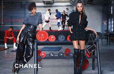 chanel knee high boot ads - Google Search