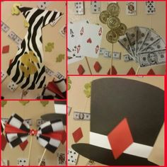 black and white party photobooth props using cricut photo booth props ...