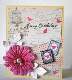 My first Mixed Media card