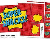 INSTANT Super Snacks! - Superhero Printables