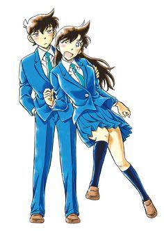Detective Conan - Shinichi and Ran Detective Conan Ran, Detective Conan Shinichi, Ran And Shinichi, Kudo Shinichi, Magic Kaito, Anime Films, Anime Characters, Happy Tree Friends, Anime Chibi