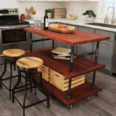 """Awesome """"murphy bed plans how to build"""" info is offered on our site. Mobile Kitchen Island, Rustic Kitchen Island, Kitchen Islands, Build A Murphy Bed, Murphy Bed Plans, Laundry Room Pedestal, Wooden Bird Feeders, Barn Wood Projects, Furniture Projects"""