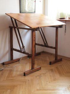 Living Furniture, Cool Furniture, Furniture Design, Folding Furniture, Woodworking Furniture, Diy Easel, Drawing Desk, Studio Table, Art Studio Organization