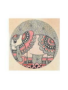 Elephant Madhubani Painting x Worli Painting, Kerala Mural Painting, Indian Art Paintings, Online Painting, Fabric Painting, Paintings Online, Abstract Paintings, Oil Paintings, Madhubani Art