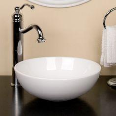 Kiernan Petite Porcelain Vessel Sink - Vessel Sinks - Bathroom Sinks - Bathroom