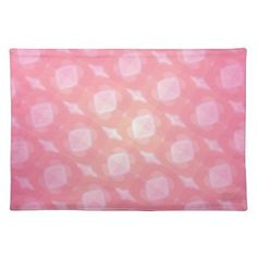 Pink Abstract Cloth Placemat - kitchen gifts diy ideas decor special unique individual customized