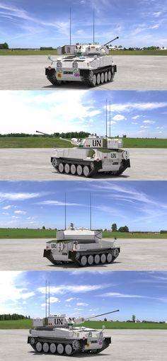 "3D model ""CVR(T) FV107 Scimitar (UN)"" #3Dmodel #3Dartist #Tank #Collection #3Dsmax #Vray #Frigatez"
