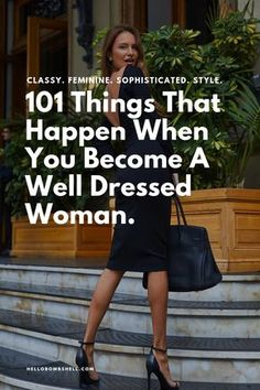 How to be classy feminine sophisticated and stylish has a lot to do with being a well-dressed woman. Here are 101 benefits of dressing well. What does it mean to be well dressed and modern women? It's learning to cultivate a style and wardrobe that a Women's Dresses, Elegant Dresses, Nice Dresses, Awesome Dresses, Summer Dresses, Casual Dresses, Formal Dresses, Wedding Dresses, Backless Dresses