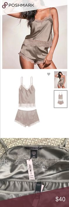 NWT Victoria's Secret Very Sexy Cami Set Sz Large NWT VS Very Sexy Cami Set Beautiful Taupe Color. Size Large. Victoria's Secret Intimates & Sleepwear