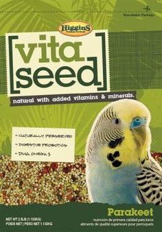 BIRD - FOOD: SEEDS & PELLETS - VITA SEED KEET - 2.5LB - HIGGINS PET FOOD - UPC: 46706210206 - DEPT: BIRD PRODUCTS