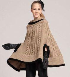 11 MODELOS DE PONCHOS | Patrones Crochet, Manualidades y Reciclado                                                                                                                                                      Más