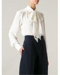 Plein Sud | White Pussy Bow Shirt | Lyst