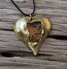 Gorgeous clockwork heart from Hammered Hearts jewellery blog