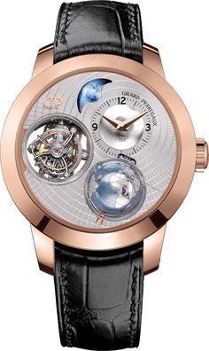 La Cote des Montres : La montre Girard-Perregaux Planétarium Tri-Axial - La ronde cosmique