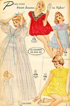 Vintage Dress Patterns, Vintage Dresses, Vintage Outfits, Retro Lingerie, Jolie Lingerie, Retro Mode, Mode Vintage, 50s Vintage, 1950s Fashion