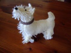 West Highland Terrier Dog Hand Knitted in Scotland, via Etsy.