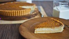 South African Milk Tart or Melk Tert Recipe Custard Recipes, Baking Recipes, Dessert Recipes, Desserts, Types Of Pastry, Types Of Pie, Sweet Pie, Sweet Tarts, Melktert