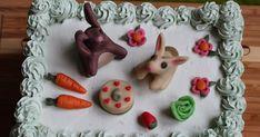 Ihan parhaan Gastropapu-blogin Liina toivoi minulta pupukakkua juhliinsa. Tein pienen piknikkattauksen kakun päälle ja muovailin puput n...