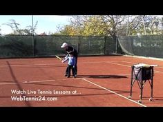 ▶ Live Tennis Lessons (no. 1) - how to teach your own child or student (beginning tennis player) from WebTennis24.com
