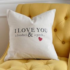 #sayitwithcricut Pillow Project to show someone you love them! Project from: The Idea Room