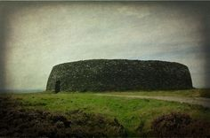 The Stone Fort of Grianán of Aileach sits on a hilltop in Inishowen County Donegal.