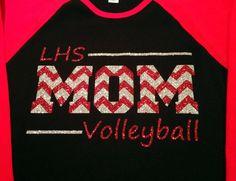Custom Glitter & Chevron Volleyball Mom by GirlieGirlCouture Volleyball Cheers, Volleyball Mom Shirts, Volleyball Quotes, Sports Shirts, Volleyball Ideas, Best Custom T Shirts, Sport Shirt Design, Glitter Chevron, Cheer Mom