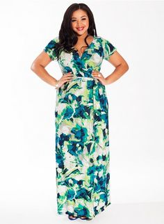 Alison Maxi Dress in Turquoise Dream #plussize