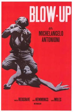 A great poster from Michelangelo Antonioni's 1966 film Blow-Up. His first fully-English movie, it starred David Hemmings and sexy Vanessa Redgrave. Ships fast. 11x17 inches. Need Poster Mounts..?