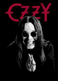 Ozzy Osbourne by Gumilar Pratama Adiatna Black Metal, Heavy Metal Art, Heavy Metal Rock, Best Heavy Metal Bands, Power Metal, Metal Band Logos, Metal Music Bands, Ozzy Tattoo, Classic Rock