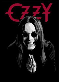 Ozzy Osbourne by Gumilar Pratama Adiatna Black Metal, Rock Y Metal, Heavy Metal Art, Best Heavy Metal Bands, Rock Posters, Concert Posters, Retro Posters, Music Posters, Rock Logos
