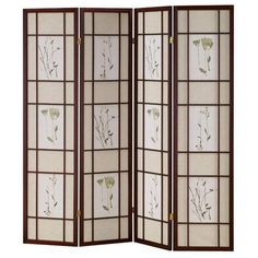 Oriental Furniture 6 ft. Natural 4-Panel Room Divider FBOPDMND4PNAT - The Home Depot