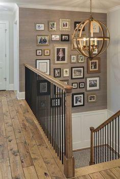 Hallway wall decor ideas long decorating bathroom for decoration walls . Decorating High Walls, Decorating Stairway Walls, Staircase Wall Decor, Hallway Wall Decor, Stair Walls, Stair Decor, Modern Staircase, Decorating Ideas, Ideas For Stairway Walls