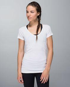 swiftly tech v neck heathered white
