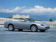 2003 Jaguar XKR Convertible--Silver--Sideview--1280x960