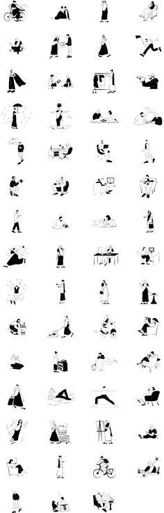 Indian Doodle Illustration Pack - uistore.design Line Illustration, Free Illustrations, Doodles, Indian, Store, Grid, Illustrator, Drawing, Learning