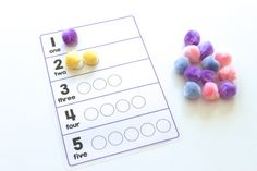 Pom Pom Number Game: Portable Activity Kit for Little Travellers ‹ Mama. Papa. Bubba.Mama. Papa. Bubba.