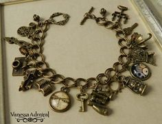 ~Timeless~ Vintage Inspired Charm Bracelet for sale on Trade Me, New Zealand's auction and classifieds website Charm Bracelets, Vintage Inspired, Bangles, Charmed, Inspiration, Jewelry, Biblical Inspiration, Bracelets, Bijoux