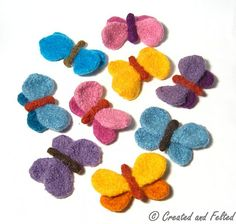 Ravelry: Felt Butterfly pattern by Claire Fairall Designs