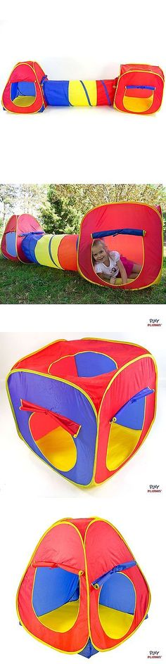 Play Tents 145997 Childrens Kids Pop Up Play Tent Tunnel Set Adventure Playhouse Outdoor Indoor  sc 1 st  Pinterest & Play Tents 145997: Premium Pop-Up Deluxe Big Play House Play Tent ...