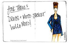 Look 3: Dress + moto jacket!
