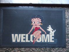 Betty Boop Molded Plasticolor  Utility Welcome Entry Floor Mat
