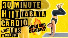30 Minute HIIT Tabata Cardio with Abs Workout 🔥Burn 400 Calories!🔥