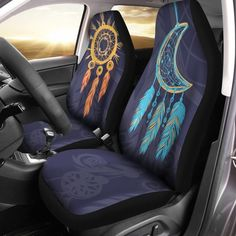 Blue cars accessories seat covers etsy ideas for 2019 Car Seat Cover Sets, Car Covers, Car Accessories For Girls, Truck Accessories, Volkswagen Bus, Hippie Boho, Hippie Style, Car Seat Protector, Boho Stil