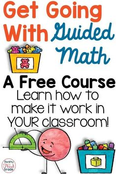 This free course can help you learn the ins and outs of running small group (guided math) in your classroom. You'll learn how to plan for and manage your groups. Get new ideas for running FLEXIBLE groups in your classroom!