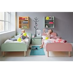 Flexa Children's beds available in 4 fabulous colours - also available with coordinating bedroom furniture