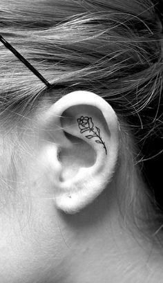 15 ear tattoos that are better than earrings