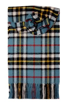Thompson Blue Lambswool Scarf