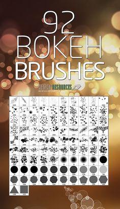Bokeh Brushes for Photoshop #photoshopbrushes #watercolorbrushes #grungybrushes #splattersbrushes #brushesfordesigners #freebie
