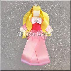 Sleeping Beauty Ribbon Sculpture Hair Clip Princess by GirlyKurlz, $7.97