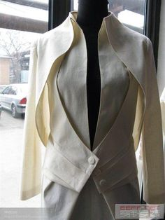 Tuxedo with a difference! Would look great as an alternative wedding dress. Or perhaps as  LGBQ wedding attire.